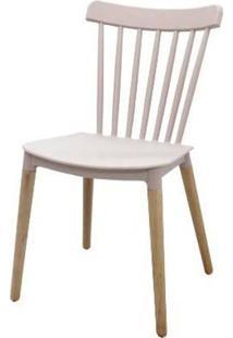 Cadeira Pierre Nude Rose Com Base Madeira 84Cm - 51580 - Sun House