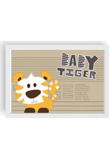 Quadro Love Decor Decorativo Infantil Baby Tiger - Branco - Dafiti