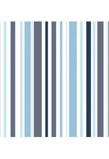 Papel De Parede Infantil Listras Azul (1000X52)