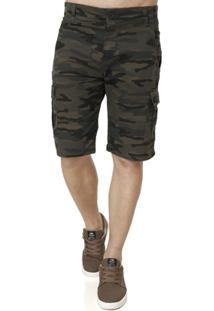 Bermuda Sarja Masculina Camuflada - Masculino