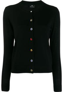 Ps Paul Smith Cardigan Slim - Preto