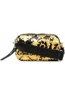 Versace Jeans Couture Baroque-Print Cross-Body Bag - Preto