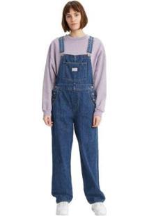 Macacão Jeans Levis Feminino - Feminino-Jeans