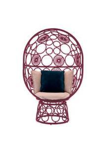 Cadeira De Corda Pina Bordô