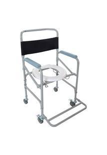 Cadeira De Banho Higienica Adulto De Aço Dobravel 100 Kg D40 Dellamed