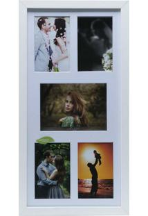 Painel Collection Para 4 Fotos 10X15 E 1 Foto 13X18 - Woodart - Branco
