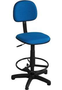 Cadeira Caixa Giratória Tecido Azul