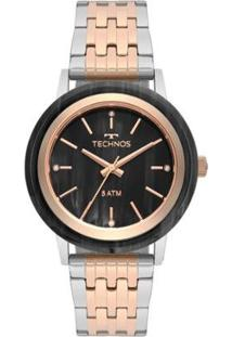 Relógio Technos Unique Bicolor 203Aad/5P Feminino - Feminino-Rose Gold