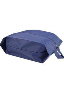 Conjunto De 3 Bolsas Jacki Design Porta Sapato Feminina - Feminino-Azul Escuro