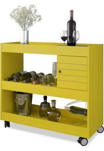 Aparador Bar Cristal Amarelo Móveis Bechara