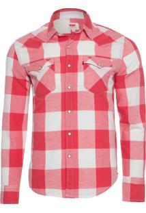 Camisa Masculina Classic Western - Vermelho
