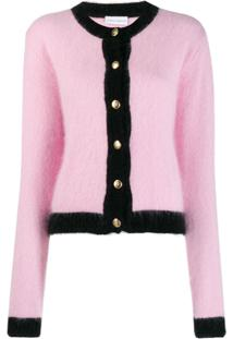 Chiara Ferragni Black Trim Knitted Cardigan - Rosa