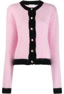 Chiara Ferragni Black Trim Knitted Cardigan - Rosa