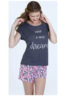 01ee6fc17 Marisa. Pijama Feminino Short Doll Estampa Floral Marisa