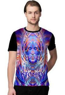Camiseta Stompy Psicodelica9 Masculina - Masculino-Preto