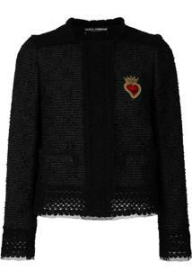 Dolce & Gabbana Jaqueta 'Sacred Heart' Tweed - Preto