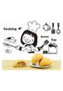 Adesivo De Parede Chefe De Cozinha Cute - M 48X84Cm