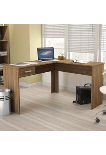 Mesa Para Computador Fênix 1 Gaveta 1181 Castanho Ff - Politorno