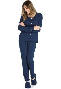 Pijama Feminino Com Botões Em Viscolycra Bela Notte
