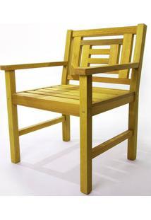 Poltrona De Madeira Echoes 1 Lugar Amarelo 61Cm - 61557 - Sun House
