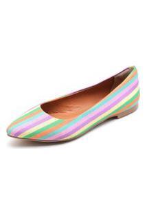 Sapatilha Casual Feminina Confortável - Multicolorida
