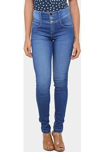 Calça Jeans Skinny Morena Rosa Andreia Cintura Média Feminina - Feminino