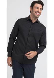 Camisa Manga Longa Comfort Fit Maquinetada
