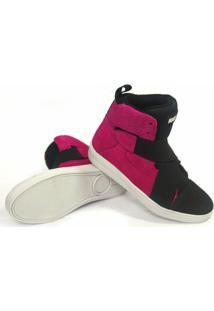 Tênis Rock Fit Sneaker Em Couro Nobuck - Feminino