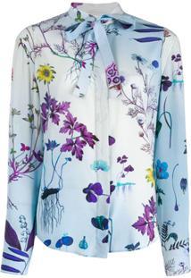Stella Mccartney Blusa Com Estampa Floral - Azul