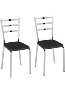 Conjunto Com 2 Cadeiras Acurio Preto