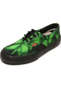 Tênis Redley Estampado Preto/Verde