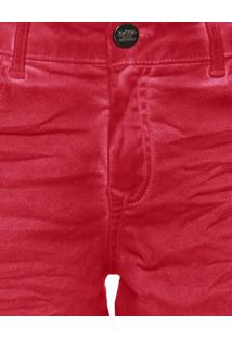 Shorts Sarja Color Hawaii Vermelho Natty - Lez A Lez