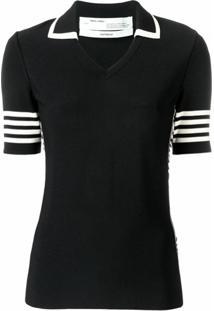 Off-White Camiseta Polo De Tricô - Preto
