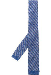 Al Duca D'Aosta 1902 Gravata Listrada - Azul
