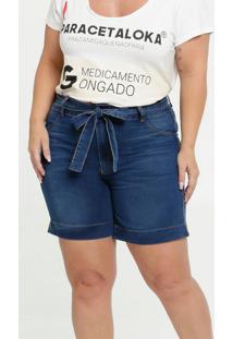 Bermuda Feminina Jeans Clochard Plus Size