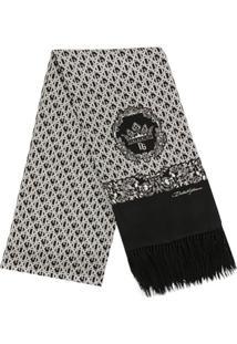 Dolce & Gabbana Lenço De Seda Com Estampa Monogramada - Branco
