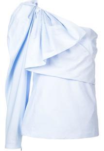 Stella Mccartney Blusa Com Drapeado - Azul
