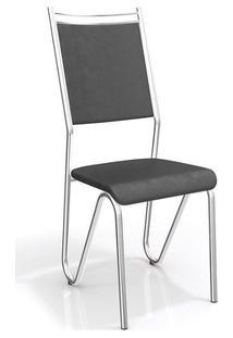 Cadeira Kappesberg Londres 2C056Cr (2 Uni) Cromad/Preto