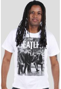 Camiseta Bandup! The Beatles Hey What'S That - Masculino-Branco