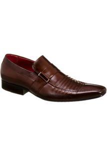 Sapato Masculino Malbork Em Couro Estilo Italiano - Masculino-Café