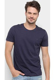Camiseta Forum Básica Masculina - Masculino-Marinho