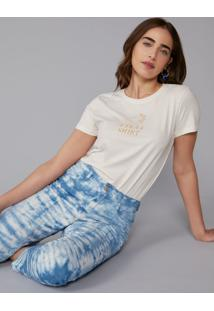 T-Shirt Amaro Calm Momile Off-White - Branco - Feminino - Dafiti