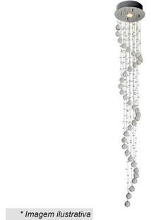 Plafon Spirale- Cristal & Inox- 160Xã˜25Cm- Bivolhevvy