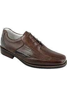 7ac1929f81 Sandro Moscoloni. Sapato Bico Quadrado Moderno Masculino Marrom ...