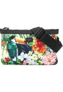 Dolce & Gabbana Pochete Com Estampa Tropical - Verde
