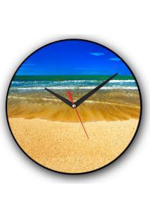 Relógio De Parede Colours Creative Photo Decor Decorativo, Criativo E Diferente - Praia