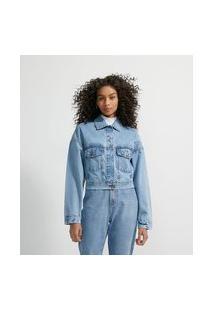 Jaqueta Jeans Estampa Costas Minnie