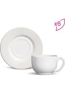 Jogo De Xícaras De Chá Argos- Branco- 6Pçs- 161Mporto Brasil