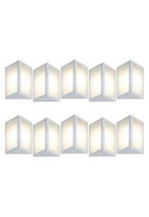 Arandela Triangular Branco Kit Com 10 Casah