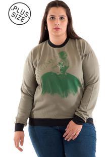 Blusão Moletom Plus Size Verde